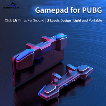 Game Gamepad Controller For PUBG Mobile Phone Game Triggers Fire Button Aim L1 R1 Joystick Grip Plug and Play For iPhone Android