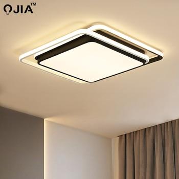 Led light ceiling Black White frame for Living Room Remote Control Lamp Fixture Dimmable Lustre dero AC85-260V
