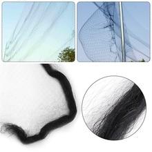 Черная нейлоновая сетка для защиты от птиц, сетка для фруктов, растений, деревьев, для предотвращения птиц, 2x4 м/3X6 м/3x8 м/3x10 м/3x15 м