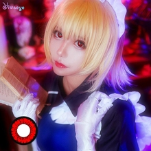 Halloween-Contact-Lenses Makeup Cosmetic Pupil Eyes Cosplay Beauty Color-Honey Red