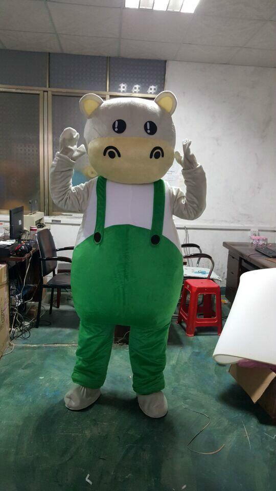 Vache à lait mascotte Costume Costume Cosplay partie jeu robe tenues vêtements publicité carnaval Halloween noël pâques Festival adulte