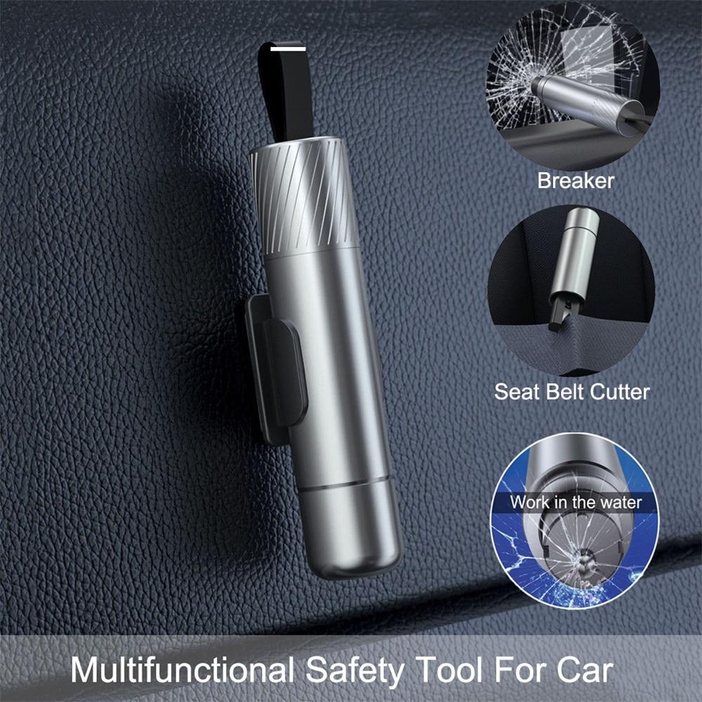 Escape in water New Portable Multi Function Emergency Glass Breaker Seat Belt Cutter Car Outdoor Self