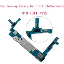 Desbloquear original mainboard para samsung galaxy tab 3 8.0 t310 t311 t315 placa lógica android placa chips 16gb rom 1.5gb ram