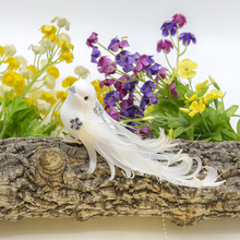 3Pc Artificial feather bird dove wedding decoration decoration pile windmill holiday