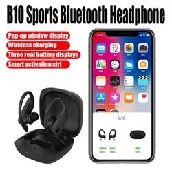 B10 TWS Drahtlose Bluetooth Kopfhörer Sport Headset Ohrhörer Wasserdichte Kopfhörer mit 950mAH Lade Box Für Telefon