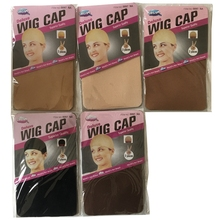 20 pieces (10 packs) Wig Cap Wig Nets Stretch Mesh Snood Hair Net Dark Beige Wig Caps