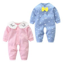 newborn jumpsuits tpure cotton long sleeve package ifantile clothes baby clothes climbing clothes spring autumn baby boy romper Boy and Girl Baby New Spring and Autumn Newborn Clothes Cotton Baby Jumpsuit Autumn Clothes Long-sleeved Open File Hakama Romper