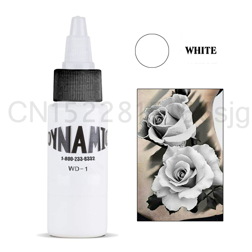 Dynamic  White  Tattoo Ink 30 Ml Permanent Makeup Micro Pigment For Body Art Tattoo Painting Cosmetics