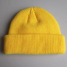 Solid Colors Short Beanies Hat for Men Women Winter Knit Cap Skullies
