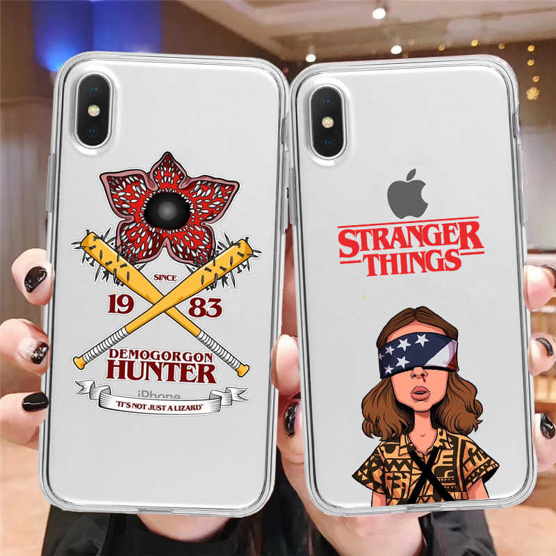Stranger Things Season 3 American TV Clear Soft silicone Phone Case For iphone 12 11 Pro Max Mini X XS XR 5S 5 SE 6 6s 7 8 plus