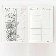 A4 modelo de storyboard animação profissional caderno para desenho de filme esboço e plano cenas diário