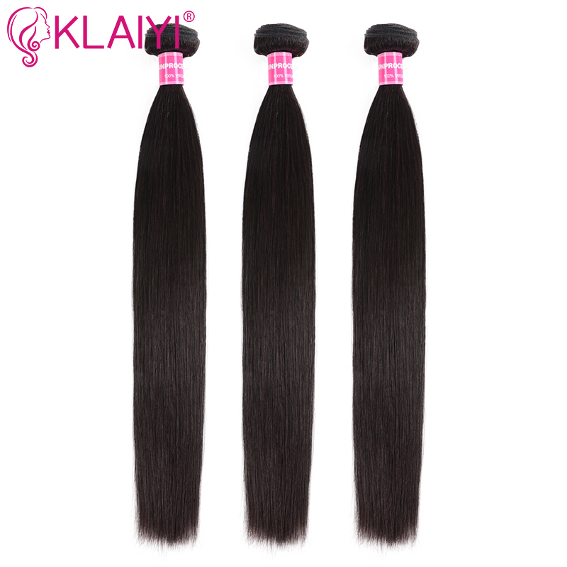 Malaysian Straight Hair Bundles Human Hair Weave 8-30 Inches Natural Color 3 Pcs Per Lot Remy Klaiyi Hair Products Free Shipping