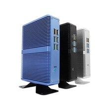 Мини-ПК без вентилятора i7 i5 7200U i3 7100U DDR4/DDR3 Win10 Pro Barebone Nuc компьютер Win10 Pro Linux HTPC VGA HDMI WiFi Gigabit Lan