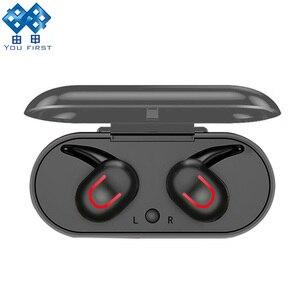 YOU FIRST TWS Bluetooth наушники спортивные свободные наушники Bluetooth 5,0 HD стерео беспроводные наушники с микрофоном для мобильного телефона