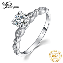 JewelryPalace Vintage CZ Engagement Ring 925 Sterling Silver Rings for Women Anniversary Wedding Jewelry