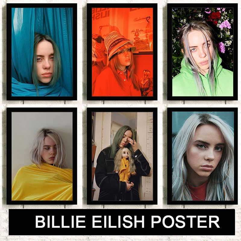 Billie Eilish Art Poster European Music Star Singer Pictures HD Printed Painting Modern Wall Art Poster For Living Room ZS201