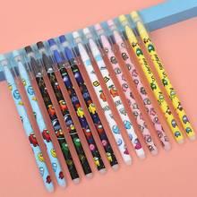 6Pcs Kawaii Game Among Us Cute Blue ink Neutral Erasable Pen Kawaii 0.5mm Gel Pen School office supplies kids stationery gift