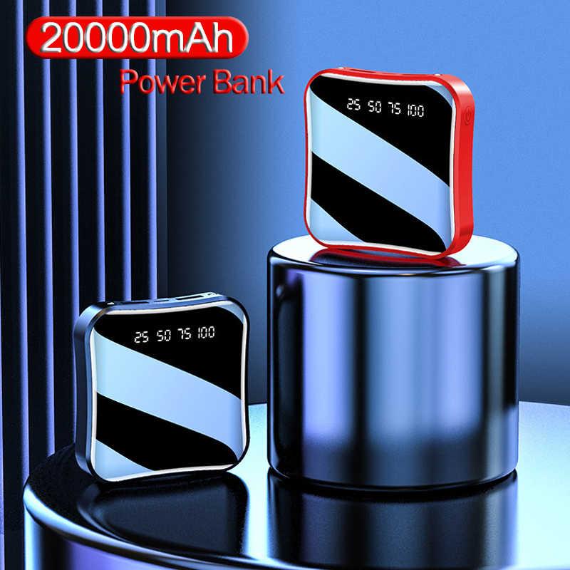 Mini Portatile 20000mAh Banca di Potere Pieno Schermo Display Digitale Veloce di Ricarica Batteria Esterna Per il iphone Samsung Xiaomi powerbank