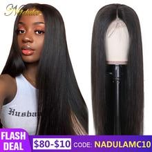 Nadula волосы 13*4/6 кружевные передние человеческие волосы парики предварительно выщипанные бразильские волосы remy кружевной парик прямой кружевной передний парик Черная пятница сделка
