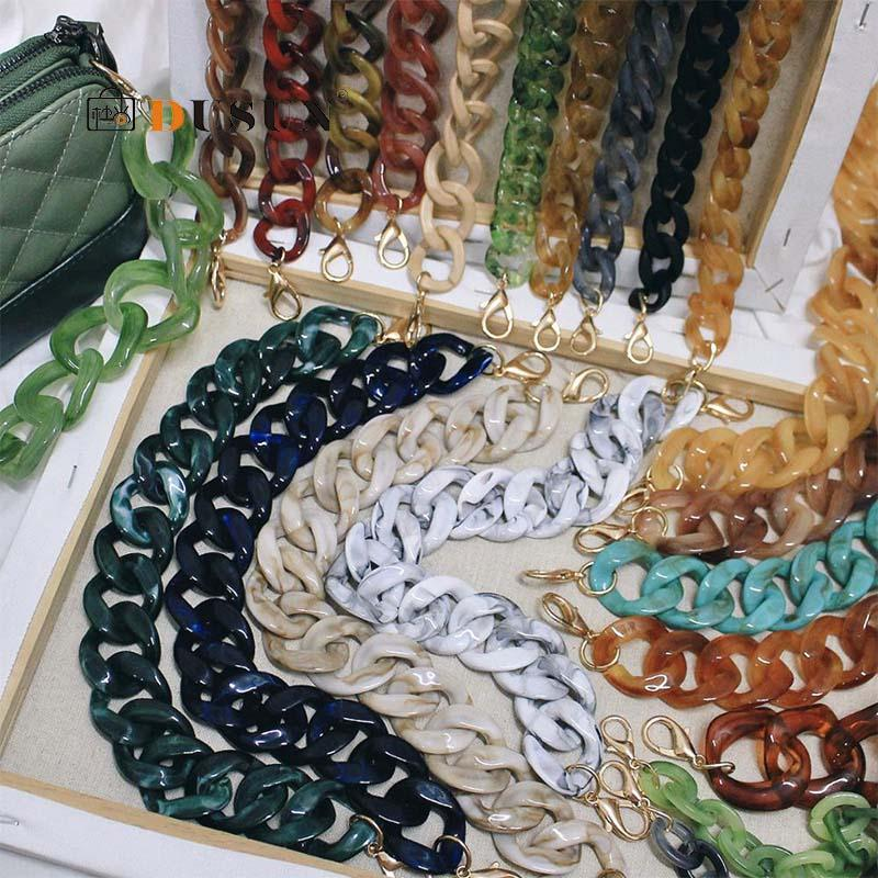 Acrylic Chains Bag Strap Shoulder Belt Resin Handbags Belt Purse Straps Handle Bag Accessories Bamboo Bag Acrylic Detachable New