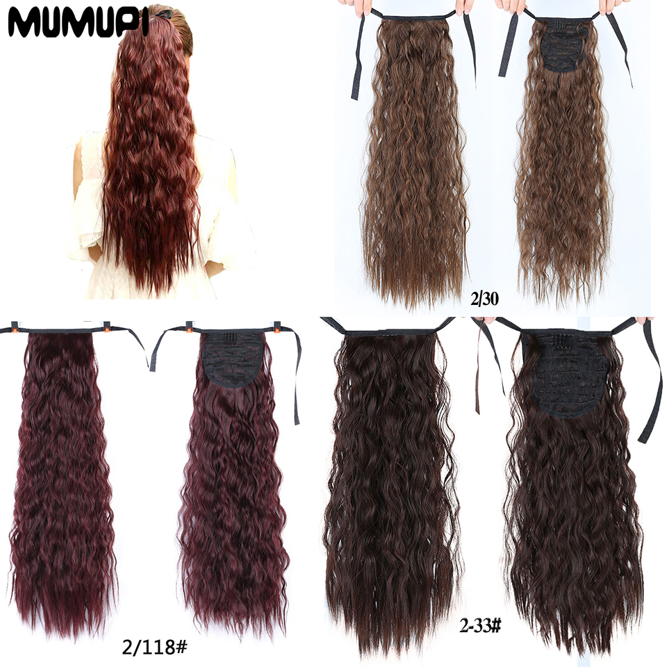MUMUPI  Long Curly Hair Ponytail Natural Hairpin Extension Wig Tail Wig Long Tail Ponytail Headwear