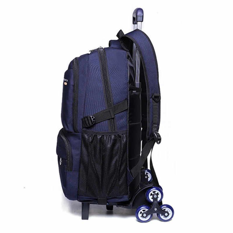 Rodas mochila removível trolley escola 2/6 capacidade crianças sacos de escola meninos crianças mochila de viagem mochilas escolar