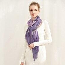 2020 Autumn/Winter new cashmere gift scarf in 70cm *196cm long women's versatile plaid-grain light stretch long scarf