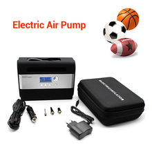 200PSI Mini Auto Inflator Pump DC 12V 10A Car Tire Electric Air Compressor Tool Kit EU PLUG With Various Cocks
