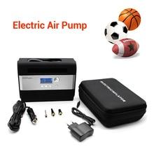 цена на 200PSI Mini Auto Inflator Pump DC 12V 10A Car Tire Electric Air Compressor Inflator Pump Tool Kit EU PLUG With Various Air Cocks
