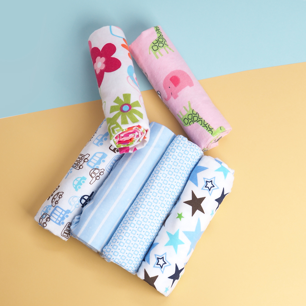 4 Pcs/lot Cotton Baby Blankets Newborn Muslin Diapers Flannel Receiving Baby Blanket Newborn Swaddle Manta Bebe Muslin Blanket