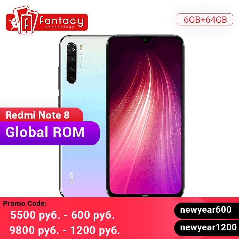 Global ROM Xiaomi Redmi Note 8 4GB 64GB 48MP Quad Cameras Smartphone Snapdragon 665 Octa Core 6.3