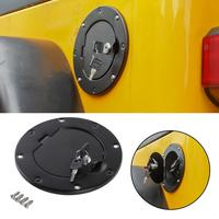 Areyourshop Fuel Gas Tank Cap Cover w/ Secure Lock&Key Design For Jeep Wrangler TJ 1997 2006 Locking Gas Cap Tank Fuel Car Parts