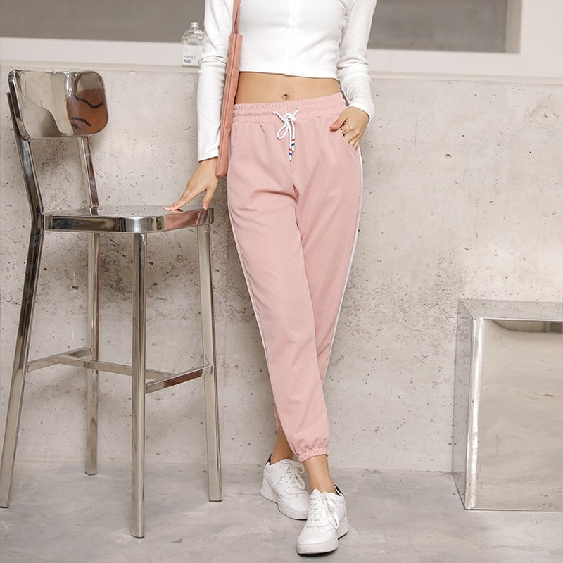 2020 New Spring Autumn Pants & Capris Leisure Ankle Length Pants Women Trousers Harem Pencil Thin Sweatpants Bottoming Pants