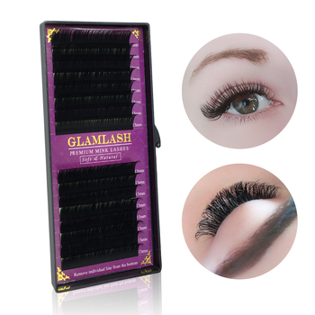 GLAMLASH 16Rows Faux mink soft mink individual eyelash extension lashes maquiagem cilios for professional perfect use aguud individual silk eyelashes natural soft lashes extension maquiagem cilios for professionals faux mink eyelash extension