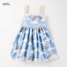 Brand Dress Rainbow Little Maven Summer Baby-Girls Kids Cotton Fashion Print New