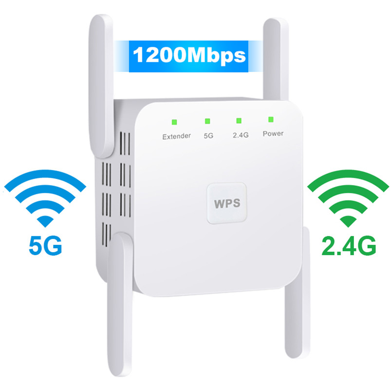 2 4G 5Ghz Wireless WiFi Repeater Wi Fi Booster 300M 1200 Mbps WiFi Amplifier 802 11AC 5G Wi-Fi Long Range Extender Access Point