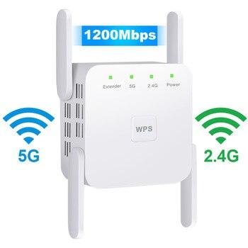 Repetidor WiFi inalámbrico de 2,4G y 5Ghz amplificador WiFi de 300M y...