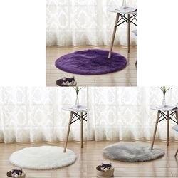 Faux kożuch wełniany dywan 30x30 cm puszysty miękki longhair dekoracyjny dywan poduszka krzesło sofa mat