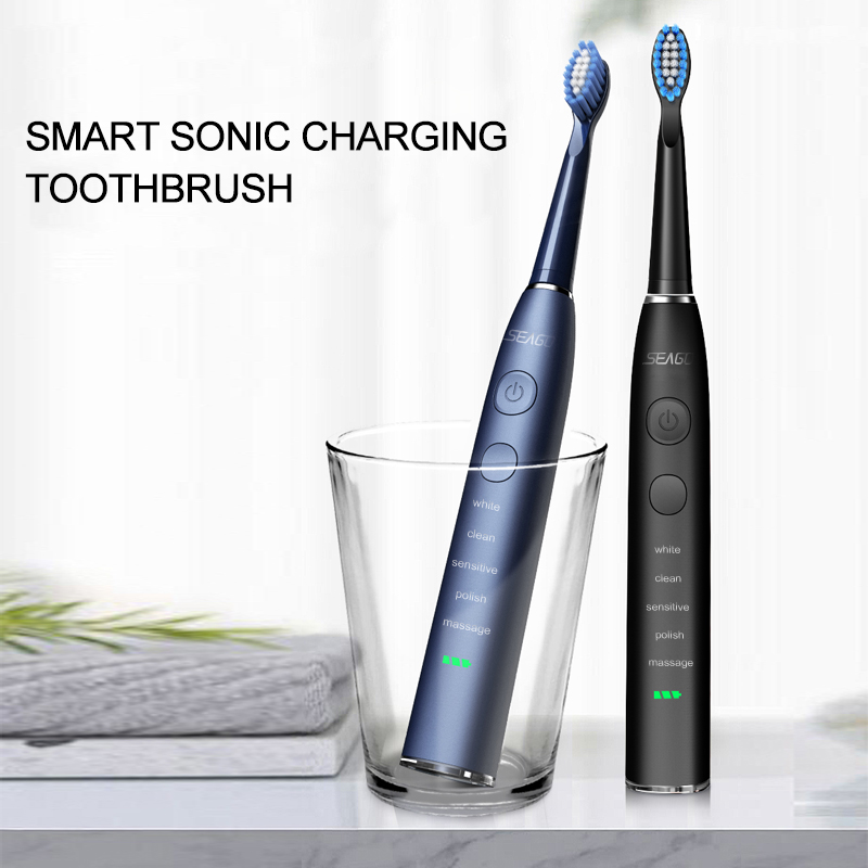 H0997b9030c0b4975b02a2651f3787cc24 - SEAGO Sonic Electric Toothbrush Upgraded Adult Waterproof USB Rechargeable 360 Days Long Standby Time With5 Brush Head Best Gift