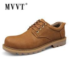 Мужские рабочие ботинки из натуральной кожи ручной работы классические
