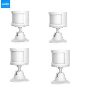 Image 1 - 100% オリジナル aqara スマート人体センサーの zigbee ワイヤレス接続内蔵光強度センサー mihome アプリ contral