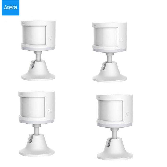 100% オリジナル aqara スマート人体センサーの zigbee ワイヤレス接続内蔵光強度センサー mihome アプリ contral