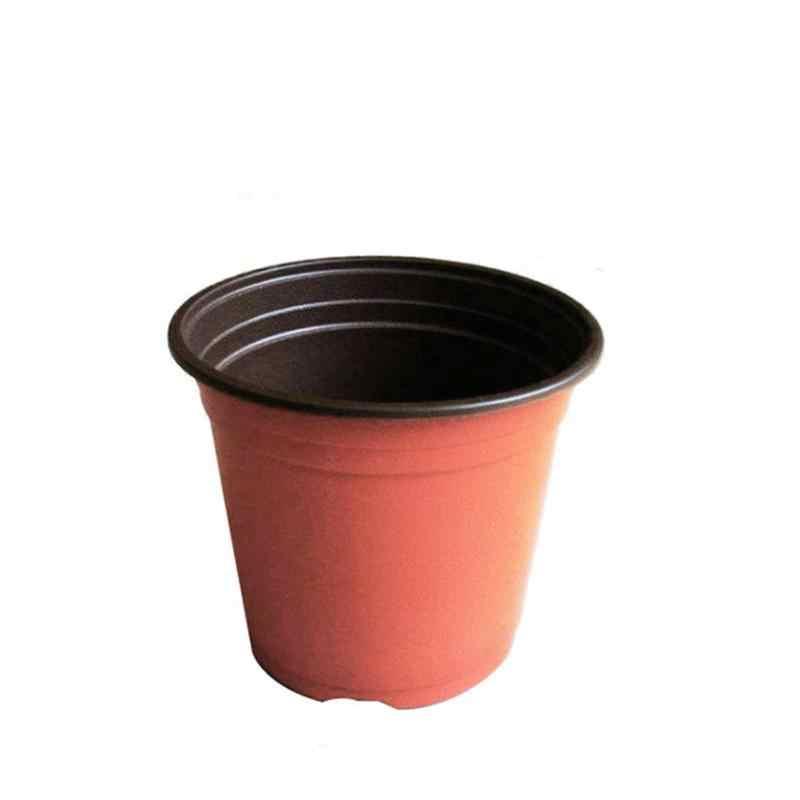 10Pcs Plastic Plant Flower Pots Nursery Seedlings Pot Flower Succulent Plant Pot