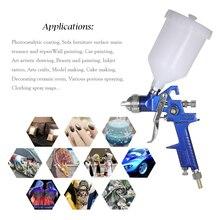 Professional HVLP 1.4mm 1.7mm Air Spray Gun Paint Sprayer 600ml Gravity Feed Airbrush Kit Car Furniture Painting Spraying Tool