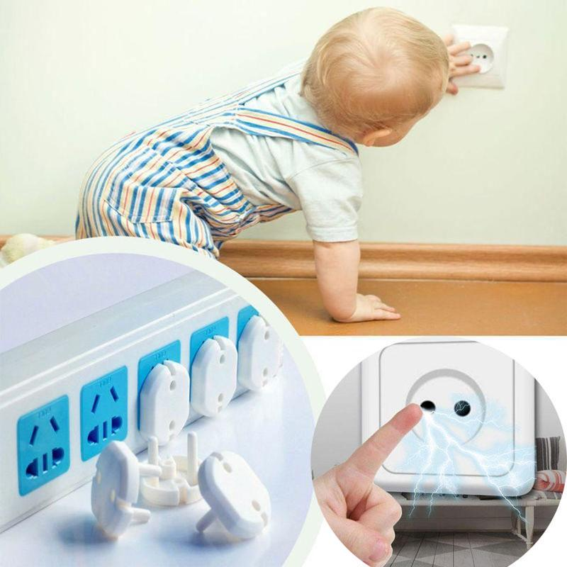 10pcs 2 Hole 3 Hole Sockets Cover Plug Baby Power Socket  Plug Children's Electrical Safety Protector Socket Protection Hot