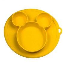 Тарелка детская с силиконовой чашей, без БФА