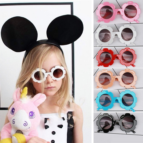 Kids Sunglasses Flower Round Shape Baby Child Sun Glasses UV400 Sunglasses For Girls Boys UV400 Round Flower Sunglasses