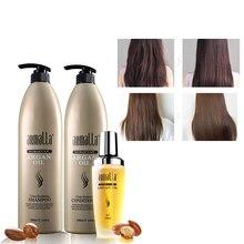 Марокканское аргановое масло Armalla 1000 мл Профессиональный натуральный сухой шампунь и 1000 мл глубокий Кондиционер для волос+ 100 мл аргановое масло