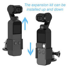 Extention Clip Fixed Adapter 1/4 inch Hole Stick Tripod Mount For Osmo Pocket Handheld Gimba(China)