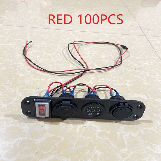Waterproof  Switch Panel 12~24V Dual USB Port Digital Voltmeter Short Circuit Protection Switch Panel fit for RV Car Boat